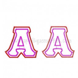 Greek Double Applique Alphabet NEW SIZES