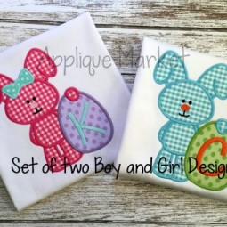 Easter Egg Bunny Boy & Girl Set