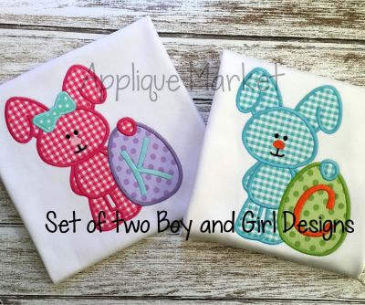 Easter Egg Bunny Boy & Girl Set