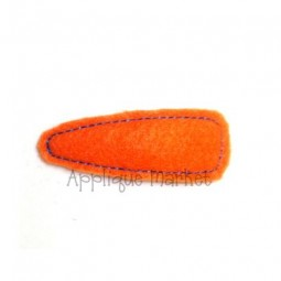 Oval Snap Barrette Cover