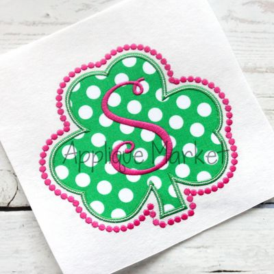 Shamrock Frame Beaded