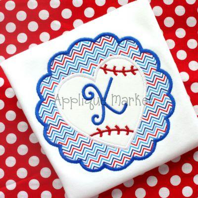 Scallop Baseball Heart