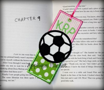 Soccer Bookmark