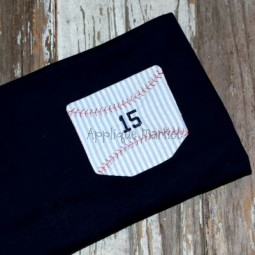 In-the-Hoop Pocket with Baseball Stitches