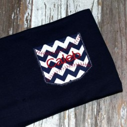 Appli-Pocket 2 Square with Baseball Stitches