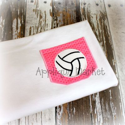 Appli-Pocket 2 Square with Volleyball