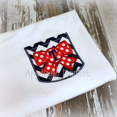 Appli-Pocket 2 Round with Bow