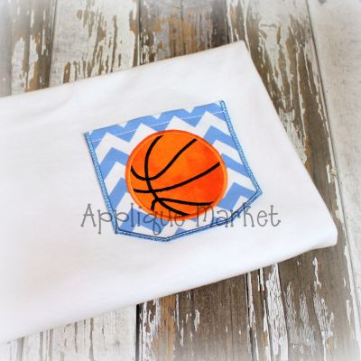Appli-Pocket 2 Square with Basketball