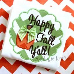 Happy Fall Y'all Scallop