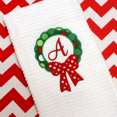 Wreath Applique Alphabet