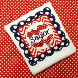 Baseball Scallop Square Ric Rac