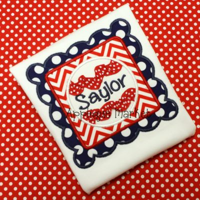 Baseball Scallop Square Ric Rac