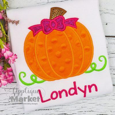 Layered Pumpkin Bow applique
