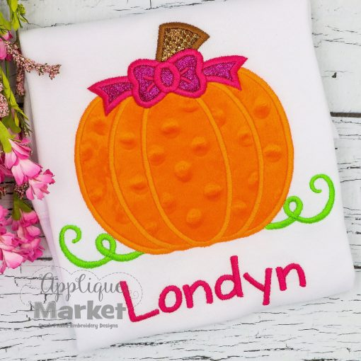 Layered Pumpkin Bow applique