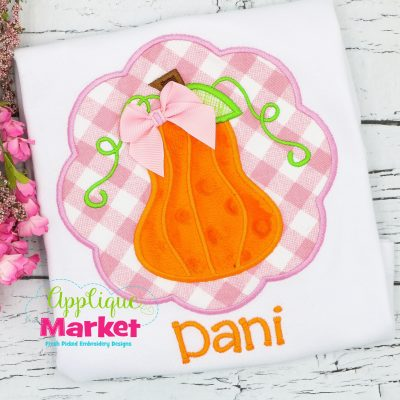 Pumpkin Scallop Applique Design