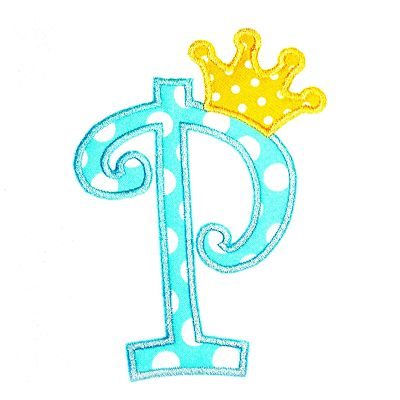 Curlz with Crown Applique Alphabet