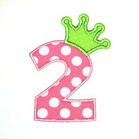 Crown Applique Numbers