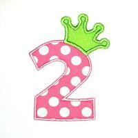 Crown Applique Numbers