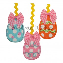 applique eggs hanging