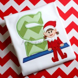 applique embroidery alphabet font elf girl shelf opt