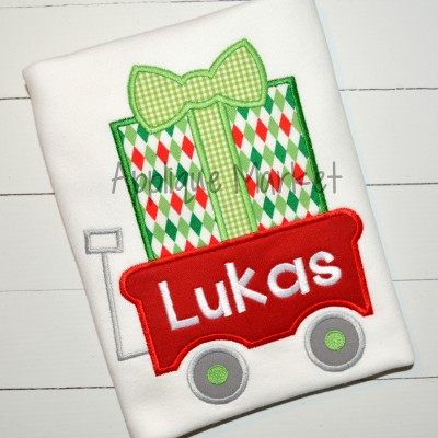applique embroidery gift wagon