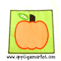 Pumpkin Applique Patch