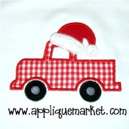 Santa Hat Truck