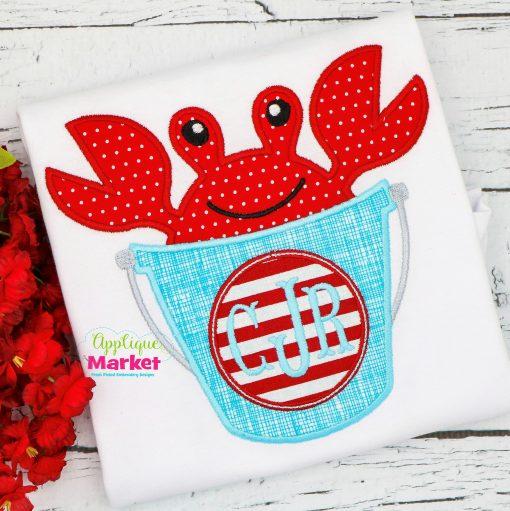 beach bucket big crab