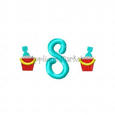 Beach Bucket Mini Monogram