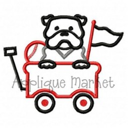 Bulldog Baseball Wagon
