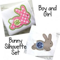 Bunny Silhouette Boy & Girl Set