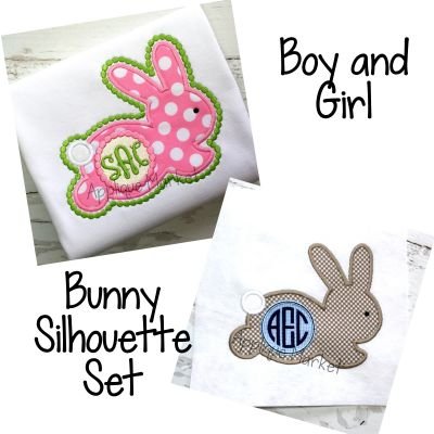 Bunny Silhouette Boy & Girl Set
