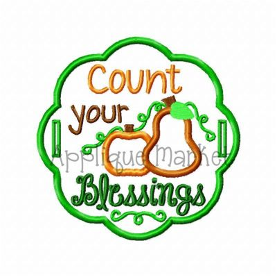 In The Hoop Count your Blessings Label