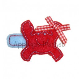 Crab Barrette Felt Design