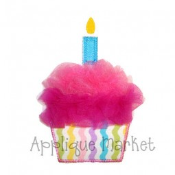 Tulle Cupcake One Candle