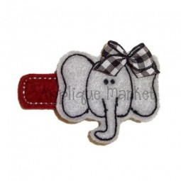 Elephant Barrette Felt Design