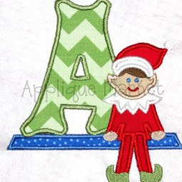 Elf Boy Applique Alphabet