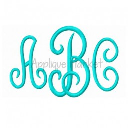 Scroll Monogram Large Sizes