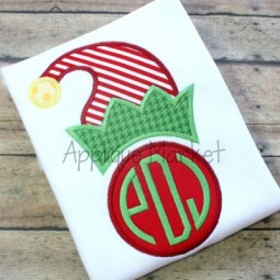 Elf Hat Circle Monogram
