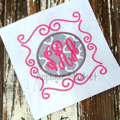 Circle Doodle Monogram Frame