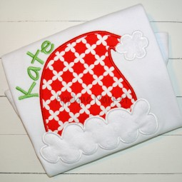 embroidery applique santa hat