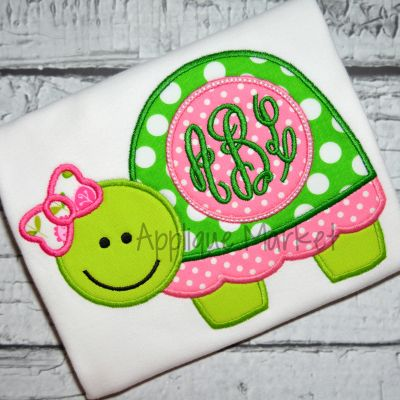Turtle Bow 2 Monogram