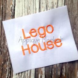 Lego House Alphabet