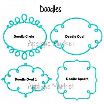 embroidery frames monogram doodle set rev