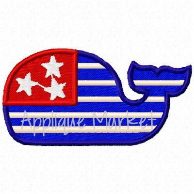 Mini Whale Flag