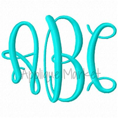 Graceful Monogram Alphabet