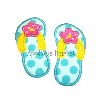 Flip Flops 3d Flower