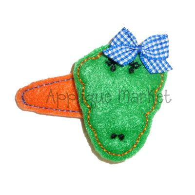 Alligator Barrette Felt Design