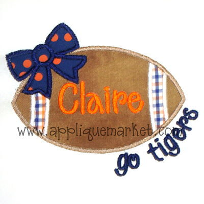 Football Bow Tigers