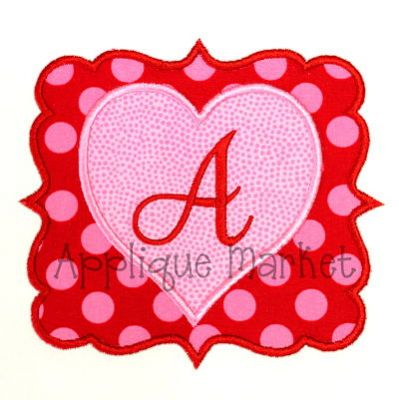 Heart Frame Alphabet